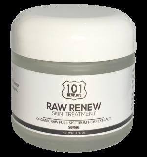 raw renew cbd skin treatment