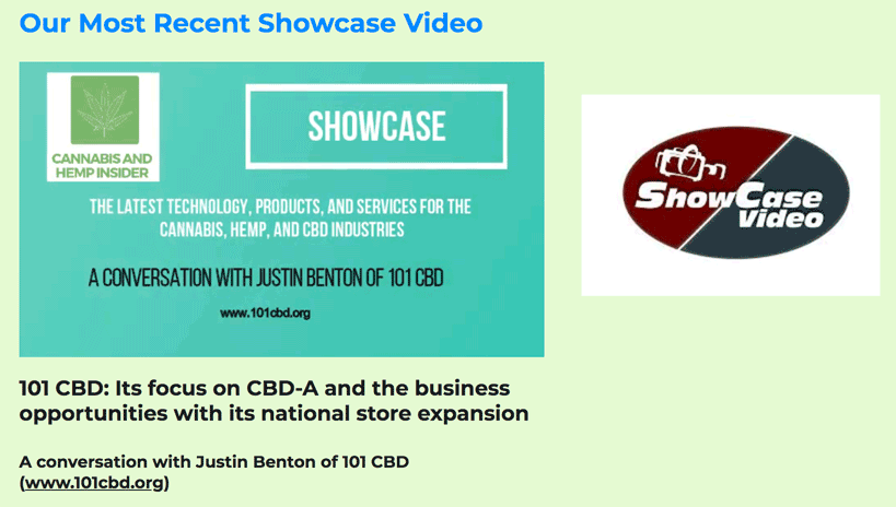 Cannabis and Hemp Insider:  A Conversation with Justin Benton, CEO of 101 CBD
