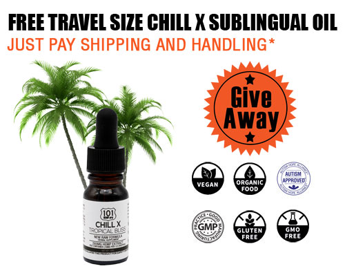 free travel size chill x sublingual oil